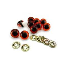 10mm Amber Soft Toy and Teddy Bear Safety Eyes x 10